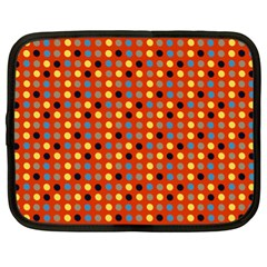 Yellow Black Grey Eggs On Red Netbook Case (xl)