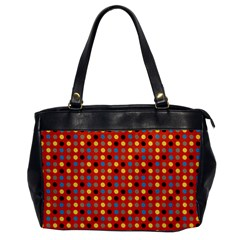 Yellow Black Grey Eggs On Red Office Handbags