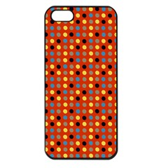 Yellow Black Grey Eggs On Red Apple Iphone 5 Seamless Case (black)