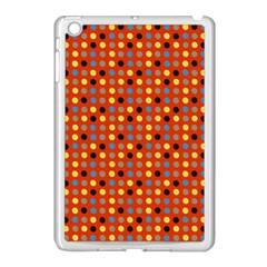 Yellow Black Grey Eggs On Red Apple Ipad Mini Case (white)