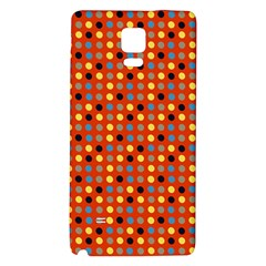 Yellow Black Grey Eggs On Red Galaxy Note 4 Back Case