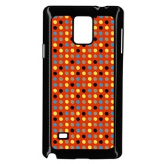 Yellow Black Grey Eggs On Red Samsung Galaxy Note 4 Case (black)