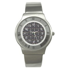 Cakes Yellow Pink Dot Sundaes Grey Stainless Steel Watch