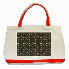 Cakes Yellow Pink Dot Sundaes Grey Classic Tote Bag (red)