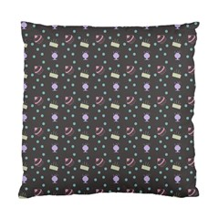 Cakes Yellow Pink Dot Sundaes Grey Standard Cushion Case (two Sides)