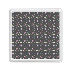 Cakes Yellow Pink Dot Sundaes Grey Memory Card Reader (square)