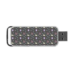 Cakes Yellow Pink Dot Sundaes Grey Portable Usb Flash (two Sides)