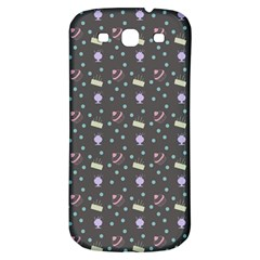 Cakes Yellow Pink Dot Sundaes Grey Samsung Galaxy S3 S Iii Classic Hardshell Back Case