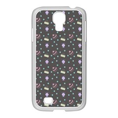 Cakes Yellow Pink Dot Sundaes Grey Samsung Galaxy S4 I9500/ I9505 Case (white)