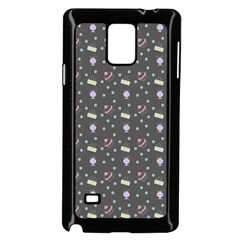 Cakes Yellow Pink Dot Sundaes Grey Samsung Galaxy Note 4 Case (black)