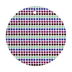 Multi White Dots Ornament (round)