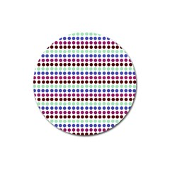 Multi White Dots Magnet 3  (round)