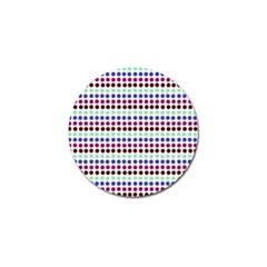 Multi White Dots Golf Ball Marker (4 Pack)