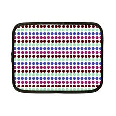 Multi White Dots Netbook Case (small)