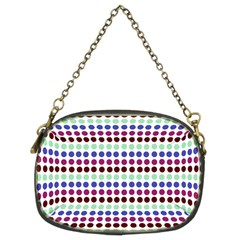 Multi White Dots Chain Purses (two Sides)