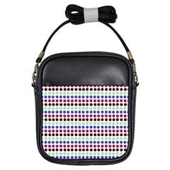 Multi White Dots Girls Sling Bags