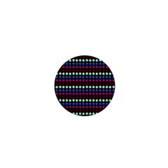 Multi Black Dots 1  Mini Buttons
