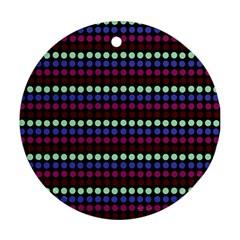 Multi Black Dots Ornament (round)