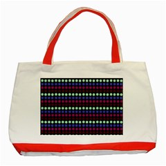 Multi Black Dots Classic Tote Bag (red)