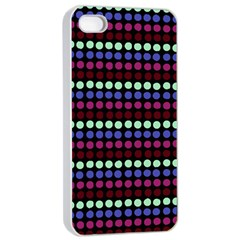 Multi Black Dots Apple Iphone 4/4s Seamless Case (white)
