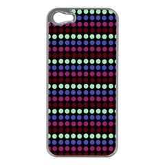 Multi Black Dots Apple Iphone 5 Case (silver)