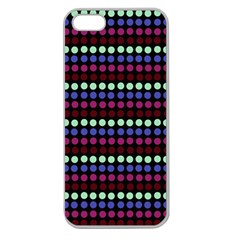 Multi Black Dots Apple Seamless Iphone 5 Case (clear)