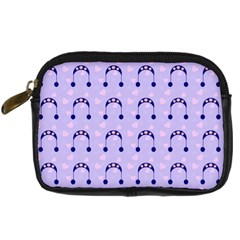 Winter Hat Snow Heart Lilac Blue Digital Camera Cases