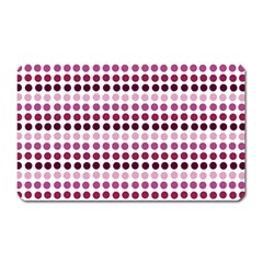 Pink Red Dots Magnet (rectangular)