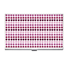 Pink Red Dots Business Card Holders
