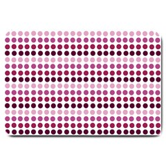 Pink Red Dots Large Doormat