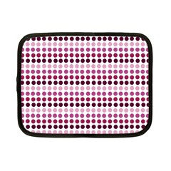 Pink Red Dots Netbook Case (small)