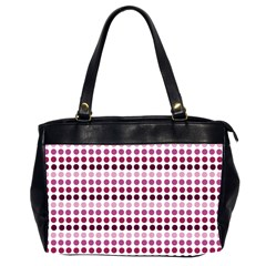 Pink Red Dots Office Handbags (2 Sides)