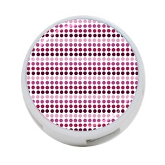 Pink Red Dots 4 Port Usb Hub (one Side)