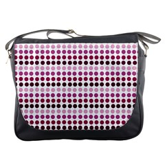 Pink Red Dots Messenger Bags