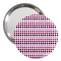 Pink Red Dots 3  Handbag Mirrors