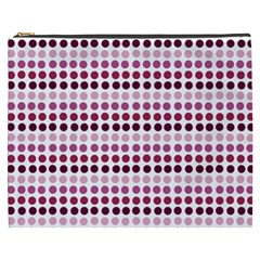 Pink Red Dots Cosmetic Bag (xxxl)