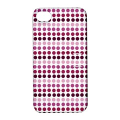 Pink Red Dots Apple Iphone 4/4s Hardshell Case With Stand