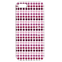 Pink Red Dots Apple Iphone 5 Hardshell Case With Stand
