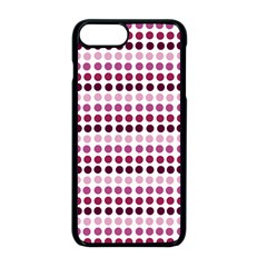 Pink Red Dots Apple Iphone 8 Plus Seamless Case (black)