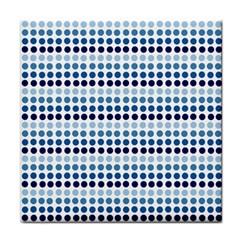 Blue Dots Tile Coasters