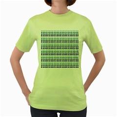 Blue Dots Women s Green T Shirt