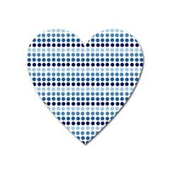 Blue Dots Heart Magnet
