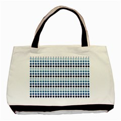 Blue Dots Basic Tote Bag (two Sides)