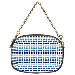Blue Dots Chain Purses (one Side)