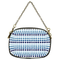 Blue Dots Chain Purses (two Sides)