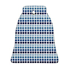 Blue Dots Bell Ornament (two Sides)