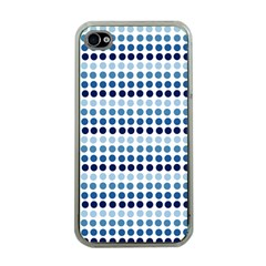 Blue Dots Apple Iphone 4 Case (clear)