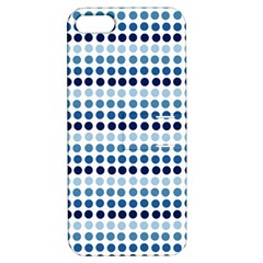 Blue Dots Apple Iphone 5 Hardshell Case With Stand