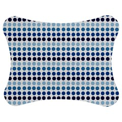 Blue Dots Jigsaw Puzzle Photo Stand (bow)