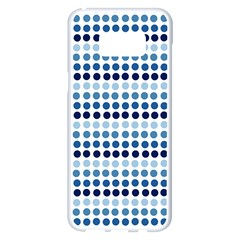Blue Dots Samsung Galaxy S8 Plus White Seamless Case